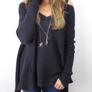 Free People Sweaters - Free People Moonshine V Cold Shoulder Sweater
